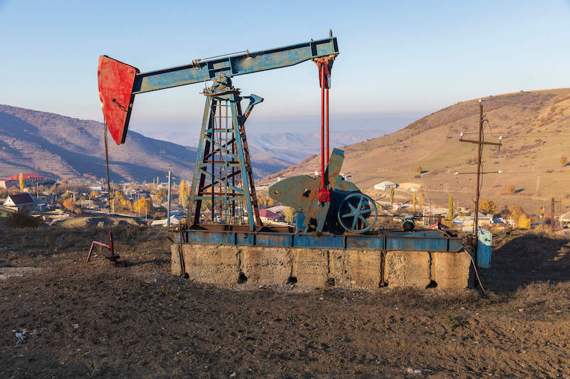 Image of an oil pump, representing Jenkins Fenstermaker's FAQ on oil and gas law and which illustrates how the WV oil and gas lawyers at Jenkins Fenstermaker, PLLC help oil and gas extraction and production clients in WV, PA, and OH.