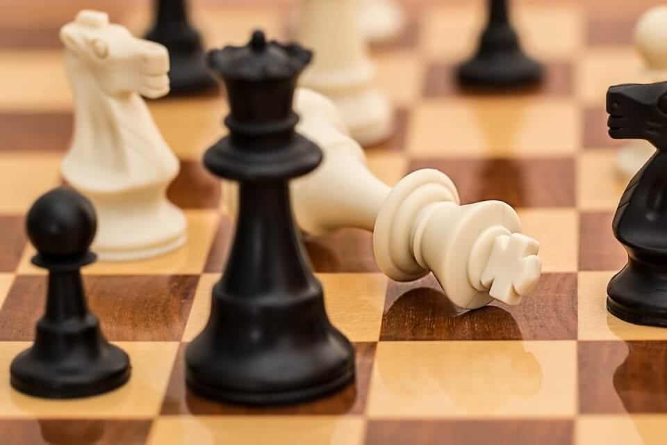 An image of a chessboard, representing the precision, skill, and experience of the tristate general litigation attorneys of Jenkins Fenstermaker, PLLC.