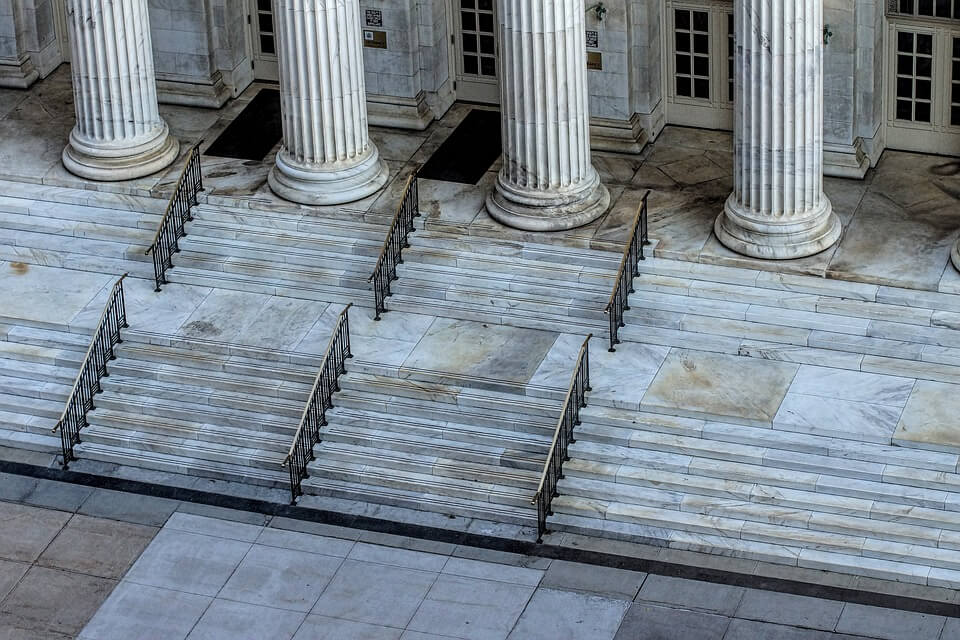 Image of courthouse steps, illustrating how Xavier W. Staggs at Jenkins Fenstermaker can help you through the southern Ohio probate process.