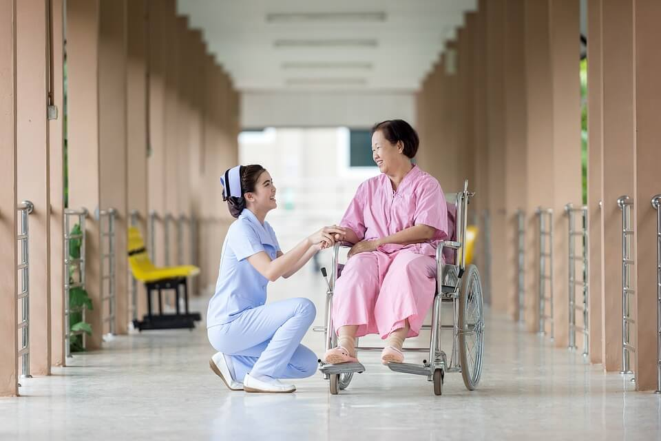 Image of an elderly woman being cared for by a kind nurse. When elder abuse in WV occurs, know that there are steps you can take to stop it. Contact our lawyers for help with your family's estate planning needs.