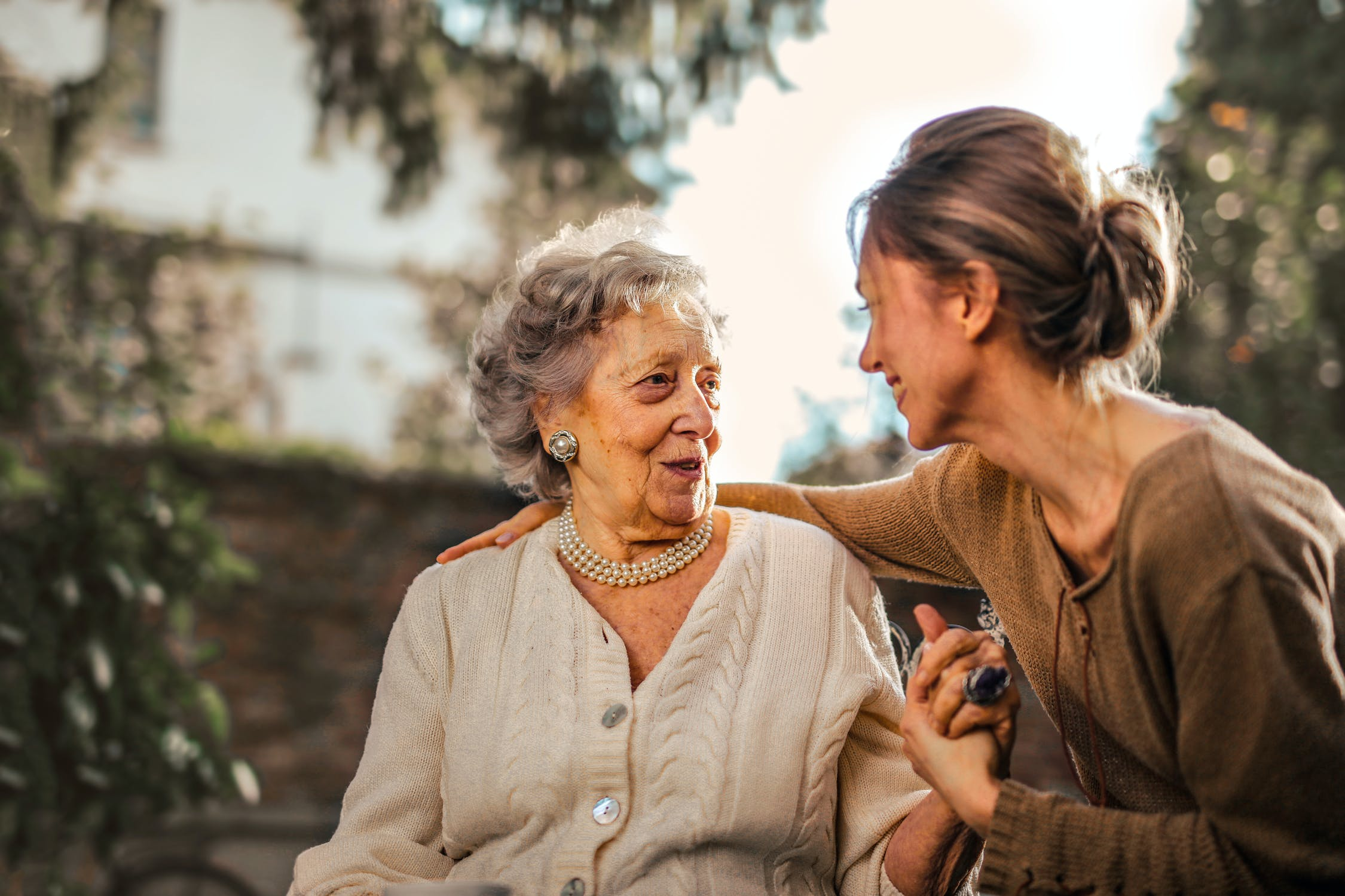 Image of an older woman and a younger woman, representing how Anna M. Price of Jenkins Fenstermaker, PLLC provides reliable estate planning advice in West Virginia, Ohio, and Kentucky.