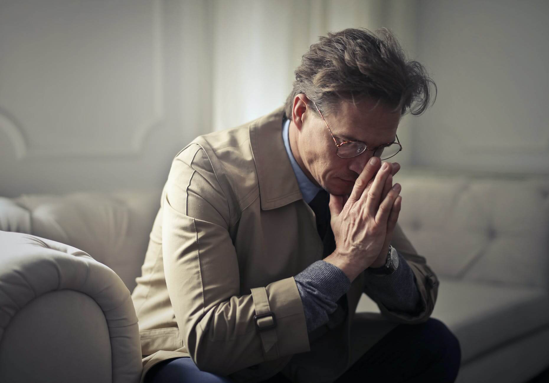 Image of a man looking distressed, representing how Anna M. Price can help ease the burdens of probate and estate administration in WV, KY, and OH.