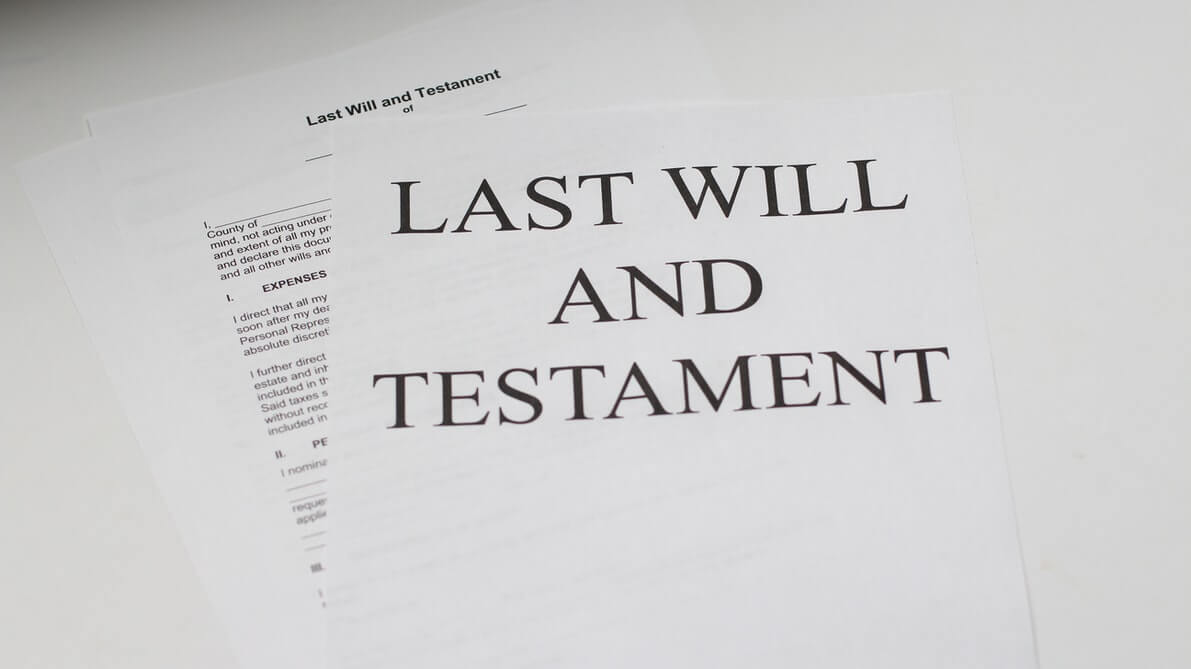 "Image of a document reading ""Last Will and Testament,"" representing the need for a WV probate litigation lawyer when managing estate litigation in a pandemic."