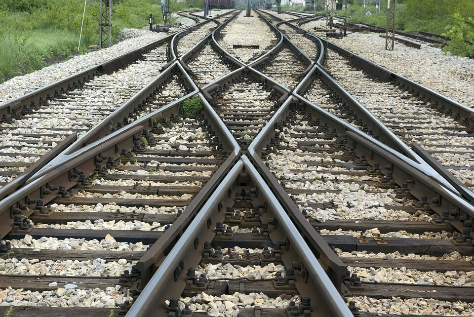 Image of railroad tracks crisscrossing, representing the tax-strategic investment opportunities that Jenkins Fenstermaker's WV QOZ attorneys can help you investigate and pursue.