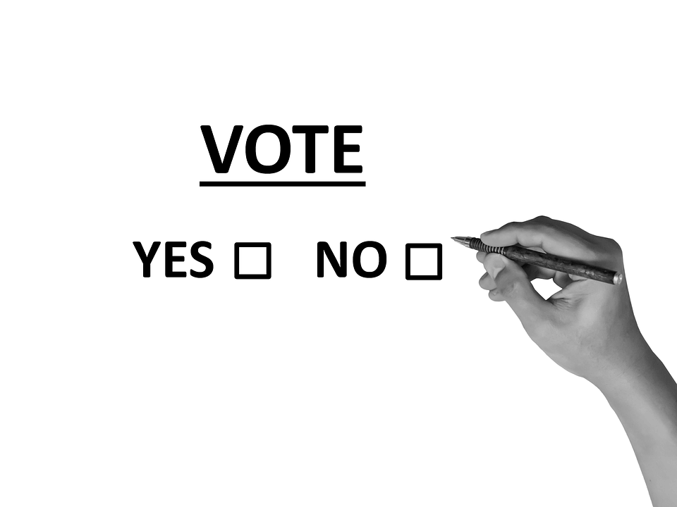 Image of checkboxes or voting yes or no, representing how Jenkins Fenstermaker's election law attorneys can help you understand how 2019 West Virginia election law bills may change voting in the Mountain State.